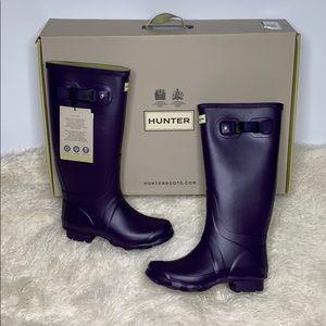 NEW Hunter Field Huntress Dark Iris Rubber Boots